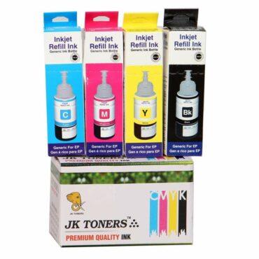 JK Toners 4 colour ink Compatible with EPSON L100 / L110 / L130 / L200 / L210 / L220 / L300 Multi Color Ink